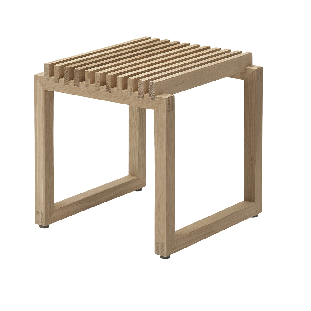 Cutter Stool in Natural or Black Oak, or Teak