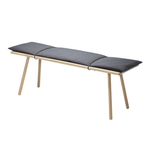 Georg Bench in Natural or Black Oak