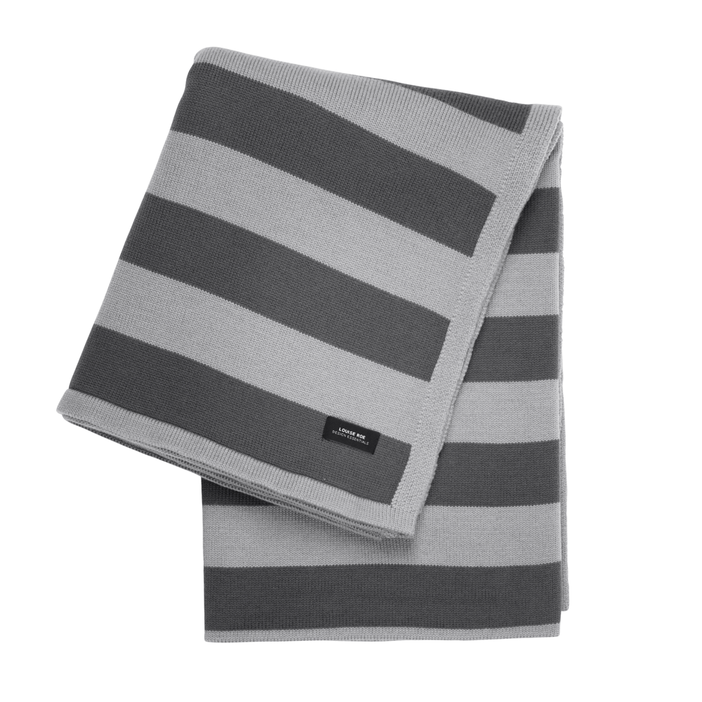 Striped Cashwool Throw