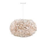 "EOS XL Goose Feather Pendant Light Brown, 30"" W x 18"" H"