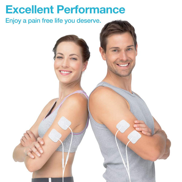 Clearance-Easy@Home TENS Machine for Pain Relief Dual Channel Tens Unit for Shoulder, Back, Leg, Sciatica & Arthritis Pain-Only for UK
