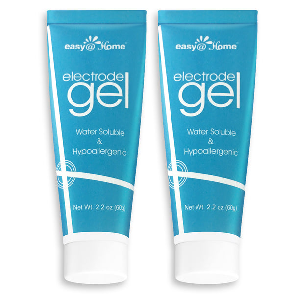 Easy@Home Electrode Gel, 2.2 oz (60g) Tube Conductivity Gel for TENS & EMS Pads, ETG-60T - 2 Pack
