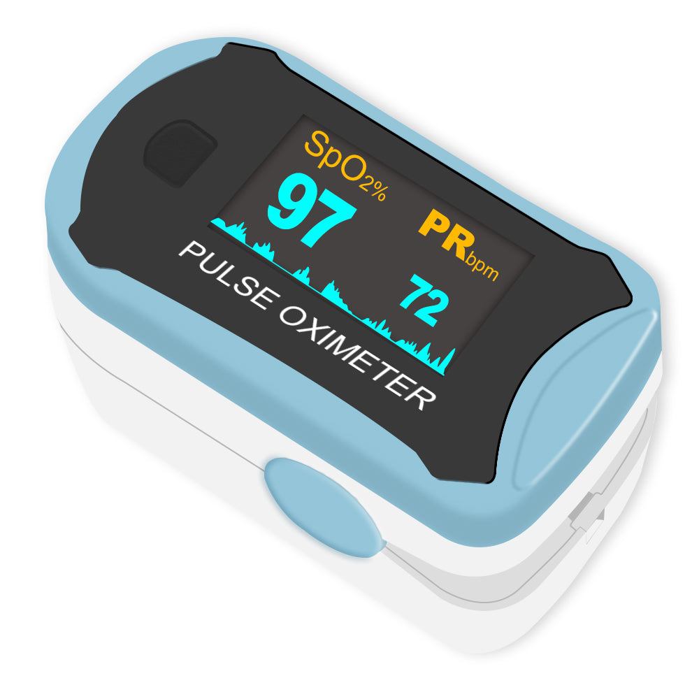 Clearance - Easy@Home Fingertip Pulse Oximeter SpO2 Blood Oxygen Saturation Meter and Heart Rate Monitor, Rotatable OLED Display-Only for UK