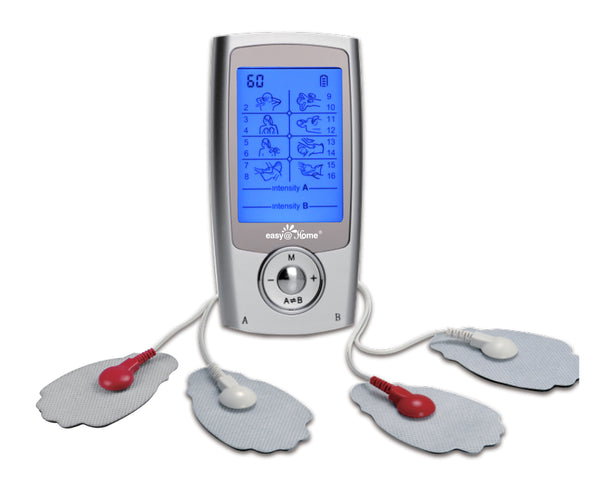 Clearance -Tens Machine Easy@Home Dual Channel Tens Machine for Pain Relief-3 in 1 TENS Unit + EMS Muscle Stimulator + Muscle Massage-Only for UK