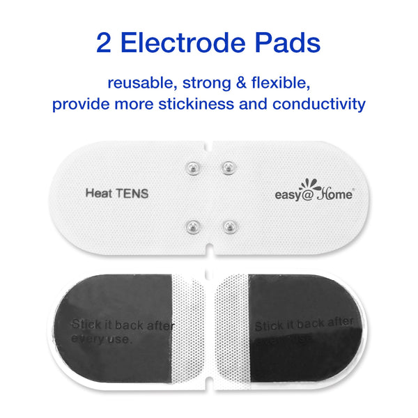 Easy@Home Professional Grade TENS Unit EHE018-3 in 1, TENS(Pain Management),Heat Therapy(Soothing Pain Relief), and EMS(Muscle Stimulation) -FDA Cleared for OTC Use …