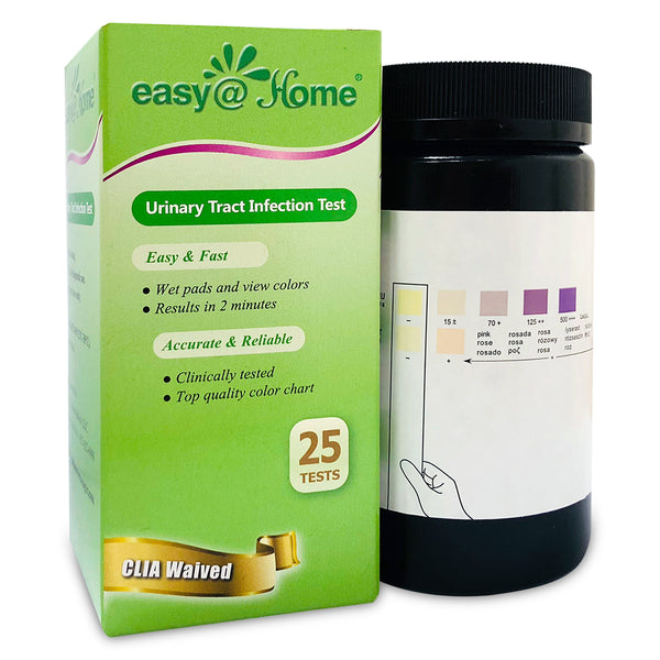 Easy@Home Urinary Tract Infection Test Strips, 25 Pack- UTI-BTL