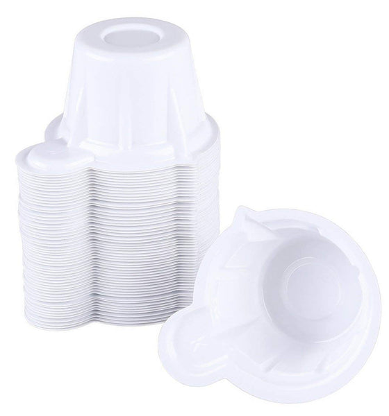 Easy@Home 100 Disposable Plastic Urine Specimen Cups with 3 Free Ovulation Test Strips