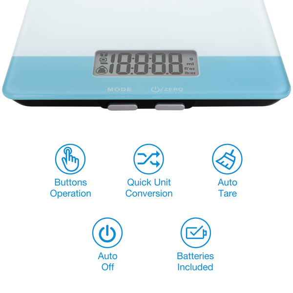 Easy@Home Digital Food Kitchen Scale, Professional Nutritional Calculator – Weight, Calories, Fat, Cholesterol, Carbohydrates - Diet Nutrient Diary Feature,ENC203