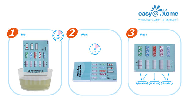 Easy@Home 10 Panel Instant Drug Test Kits -  Urine Dip Drug Tests, EDOAP-3104