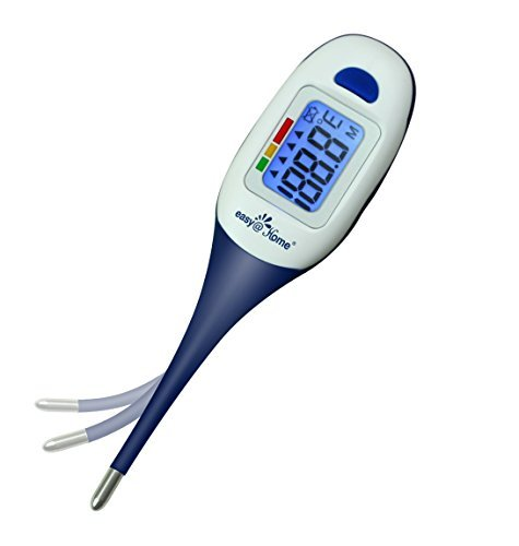 Easy@Home Digital Thermometer for Oral, Rectal or Axillary Underarm Body Temperature #EMT-026