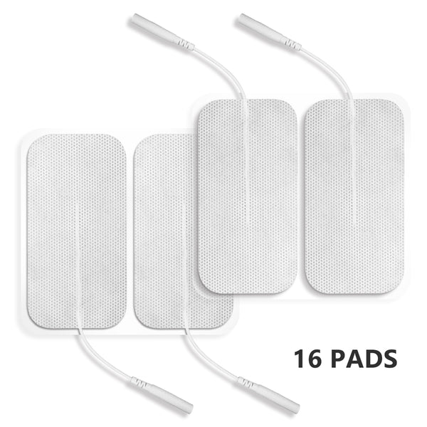 "Easy@Home Tens Unit Self Stick Carbon Electrode Pads, Non Irritating Design 16 Pcs 2"" x 4"" Reusable Pads"