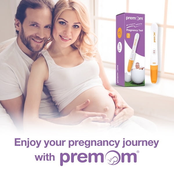 Premom Pregnancy Test Sticks (3-Pack), hCG Midstream Tests with Ovulation Predictor iOS and Android App, PM1-M3-3