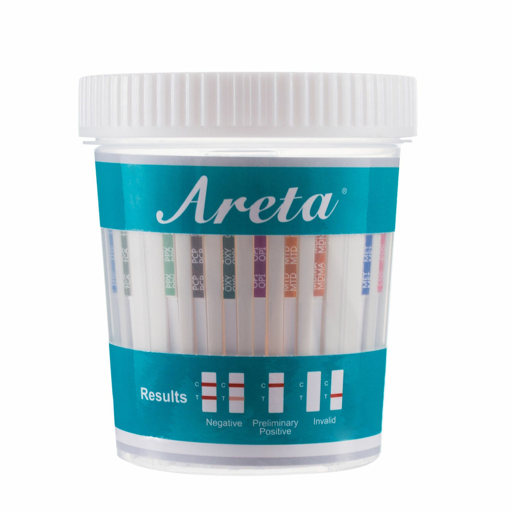 Areta 14 panel Instant Drug Test Cup Testing 14 Different Drugs Plus Temperature Strips_5 Pack #ACDOA-1144