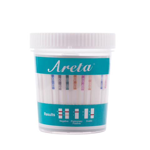 Areta 12 panel Instant Drug Test Cup Testing 12 Different Drugs Plus Temperature Strips_5 Pack #ACDOA-6125B