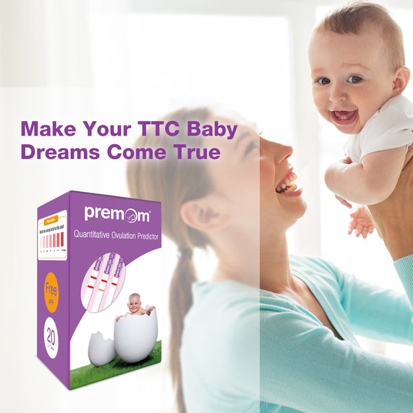 Premom Quantitative Ovulation Test Strips, Ovulation Predictor Kit with Smart Digital Ovulation Reader APP, Numerical Ovulation Tests, 20 LH Tests