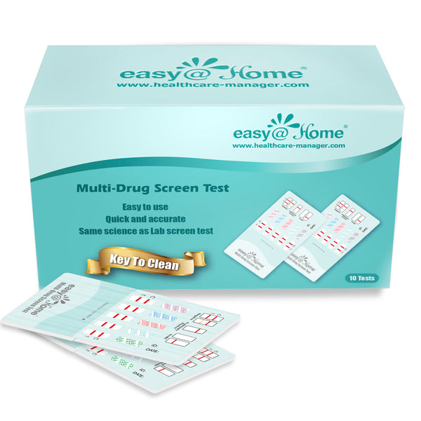 Easy@Home 10 Panel Urine Drug Test Kit EDOAP-4104