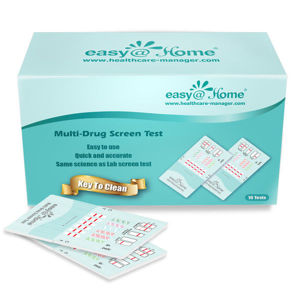Clearance - Easy@Home 12 Panel Instant Urine Drug Test Dip Kits EDOAP-6125B 7/4/21