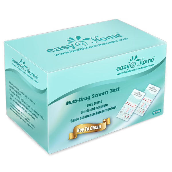 Easy@Home 10 Panel Home Drug Test EDOAP-3104