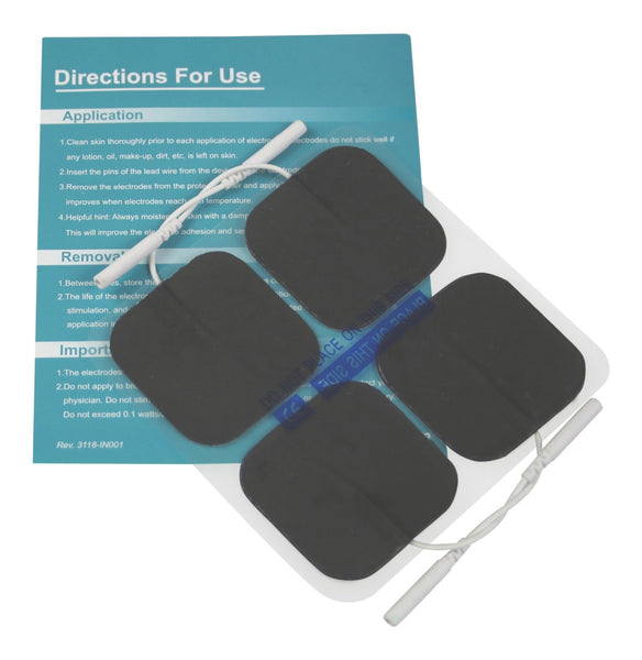 "Easy@Home Tens Unit Self Stick Carbon Electrode Pads, Non Irritating Design 40 Pack 2"" x 2"" Reusable Pads"