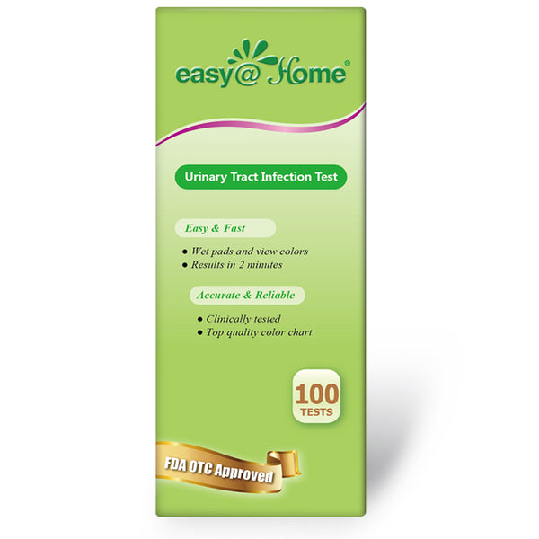 Easy@Home(UTI-100P) Urinary Tract Infection Test Strips (UTI Test Strips),100 Tests/Bottle