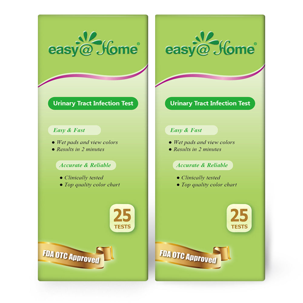 Easy@Home Urinary Tract Infection 50 Test Strips, 25 Tests/BTL (UTI-50P)