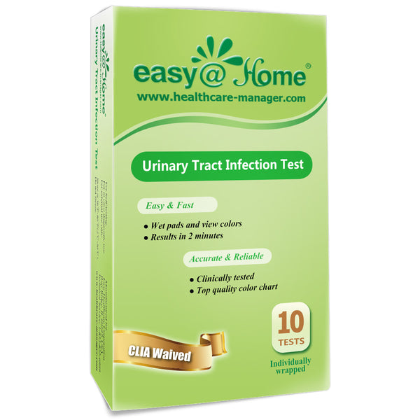 Easy@Home Urinary Tract Infection Test Strips, 10 Pack-FDA Approved