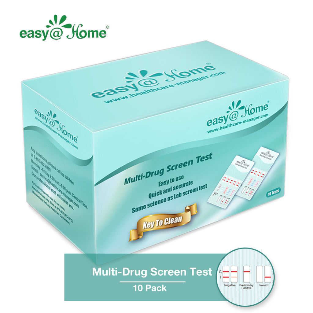 10 Pack Easy@Home 6 Panel Instant Urine Drug Test - Most Sensitive and Comprehensive Opiate/Opioids Test with Marijuana THC Panel - Testing MOP (OPI 300), BUP, COC, MTD, OXY, THC #EDOAP-065