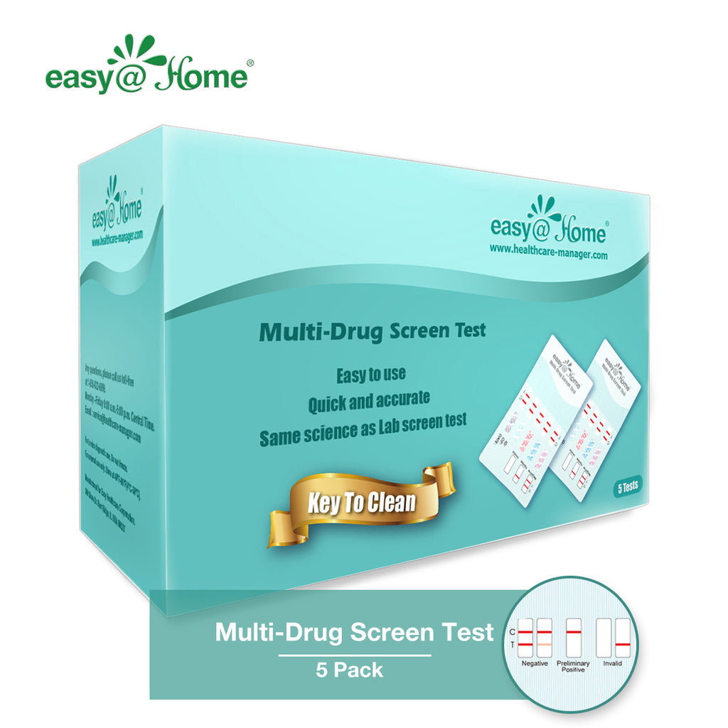 5 Pack Easy@Home 6 Panel Instant Urine Drug Test - Most Sensitive and Comprehensive Opiate/Opioids Test with Marijuana THC Panel - Testing MOP (OPI 300), BUP, COC, MTD, OXY, THC #EDOAP-065