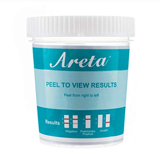 Areta 12 panel Instant Drug Test Cup Testing 12 Different Drugs Plus Temperature Strips 5 Pack #ACDOA-6125B