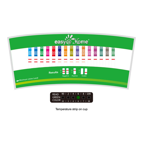 Easy@Home 14 Panel Drug Test Cup  with 3 Adulterates ECDOA-1144a3