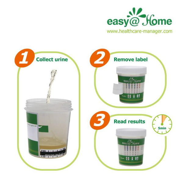 Drug Test - Easy@Home 14 Panel Drug Test Cup  With 3 Adulterates ECDOA-1144a3