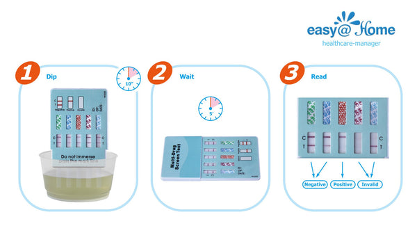 Easy@Home 6 Panel Urine Dip Instant Drug Test Strips #EDOAP-264 Instructions