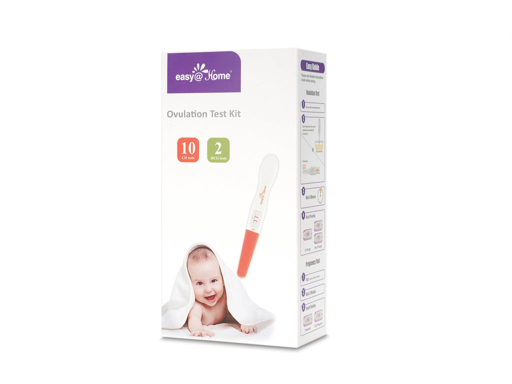 Family Planning - Easy@Home 10 Ovulation (LH) Tests Plus 2 Pregnancy (HCG) Tests - Midstream Test Sticks