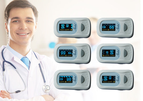 Health Management - Areta Fingertip Pulse Oximeter With Dual-Color OLED-Display 8 Modes EHP-500A