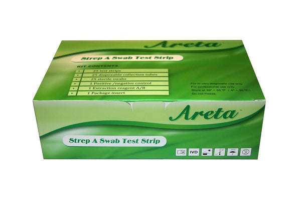 At home strep-a test for Strep Throat (25 Strips Per Box)