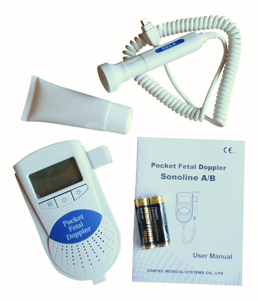 Health Management - Sonoline B Fetal Doppler (3 Mhz, LCD Display Baby Heart Monitor)