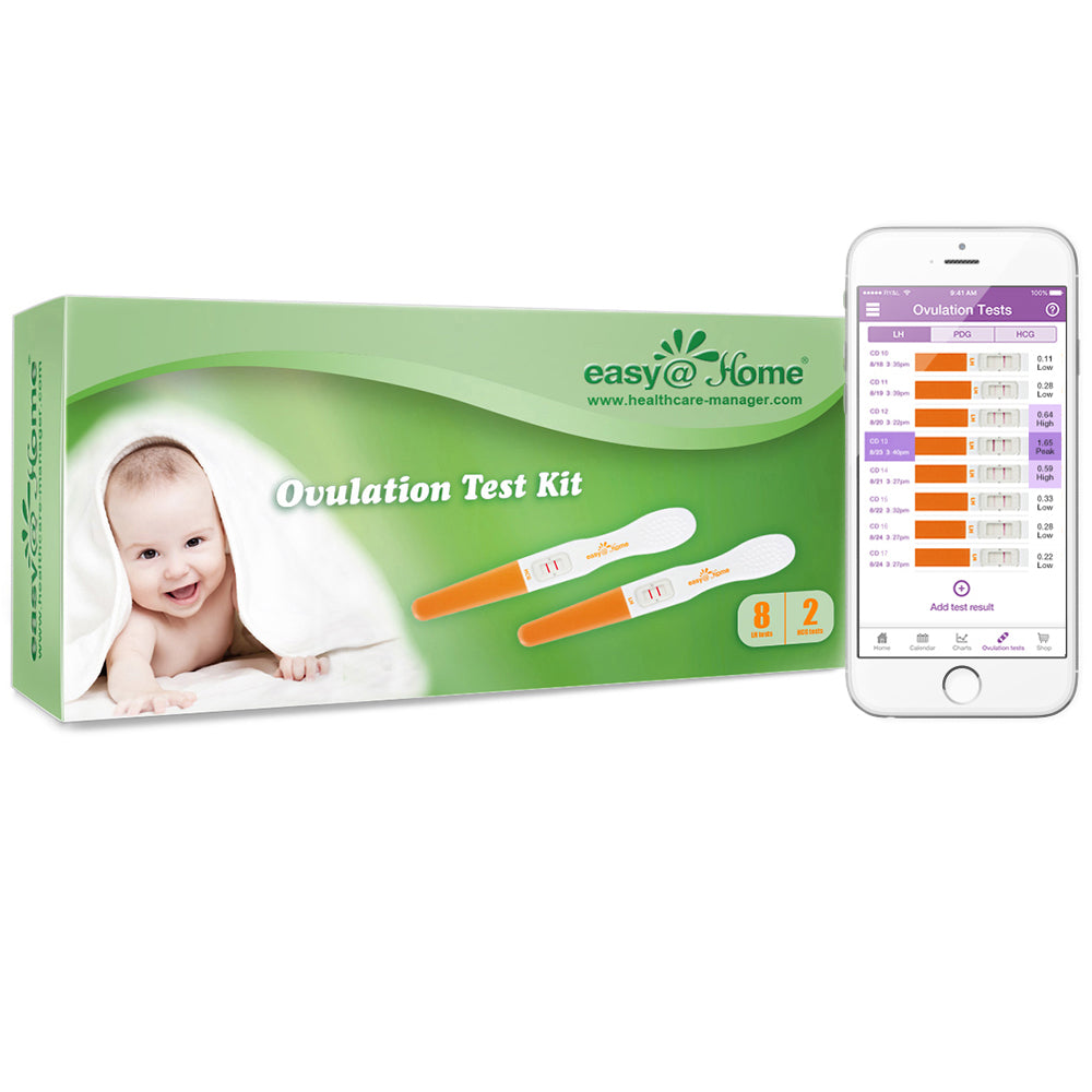 Clearance - Easy@Home 8 Ovulation Test and 2 Pregnancy Test Sticks (8LH+2HCG) - EXPIRES 03/31/2021