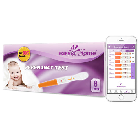 Easy@Home 8 Pregnancy Tests (HCG) Midstream Sticks