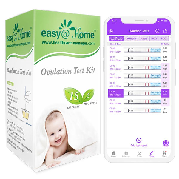Clearance - Easy@Home 15 Ovulation & 5 Pregnancy Test Strips Kit (15LH + 5 HCG) - EXPIRES 3/31/2021
