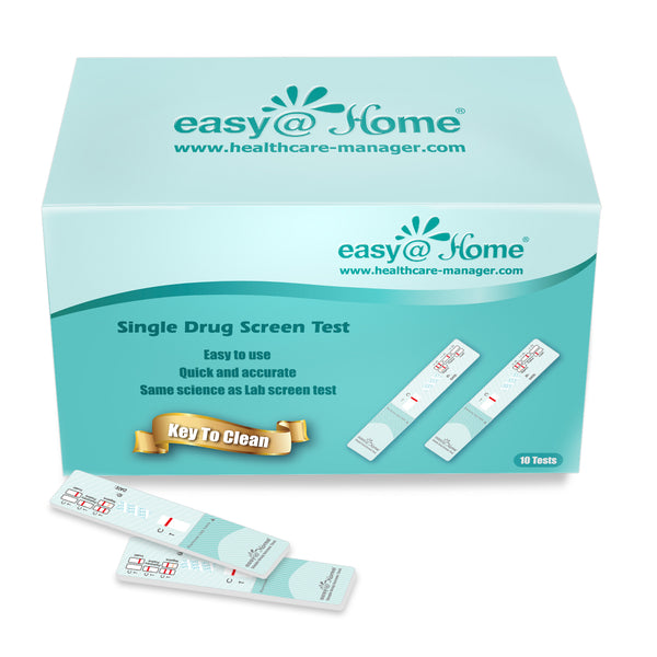 Clearance - Easy@Home Single Panel Cocaine/COC Urine Drug Test Kit, EDCO-114 Expires 8/29/21