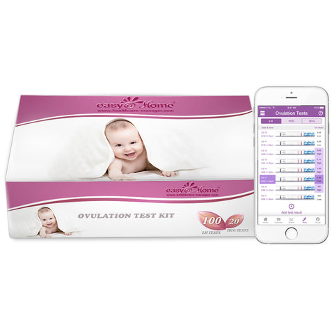 Easy@Home 100 Ovulation (LH) and 20 Pregnancy (HCG) Test Strips