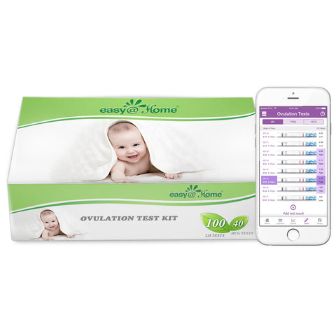 Easy@Home 100 Ovulation (LH) and 40 Pregnancy (HCG) Test Strips