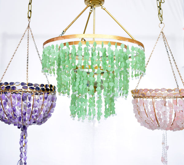 Each Au Courant Interiors beaded chandelier is handcrafted and due to the  handmade nature of the products on AuCourant-Interiors.com, items may  slightly ...