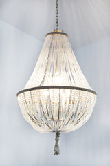 Brigitte - Frosted Glass Empire Chandelier - Au Courant Interiors
