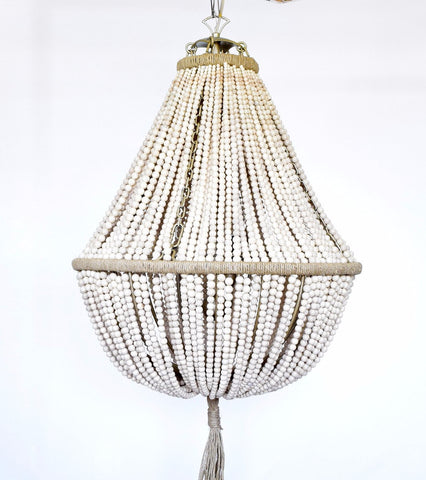 Annabella White Turquoise Empire Chandelier