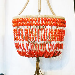 Erica - Coral Stone Open Chandelier - Au Courant Interiors