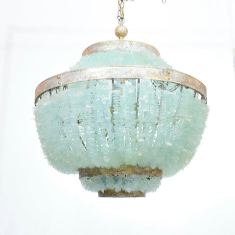 Zar Sea Glass Tile Empire Chandelier