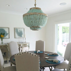 Zar Sea Glass Tile Empire Chandelier - Au Courant Interiors