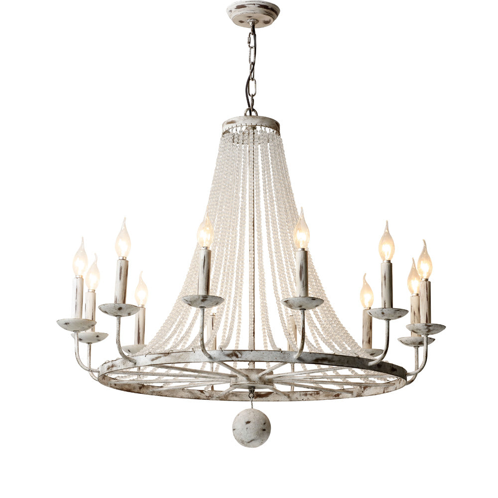 Babette - Golden Framed Chandelier - Au Courant Interiors