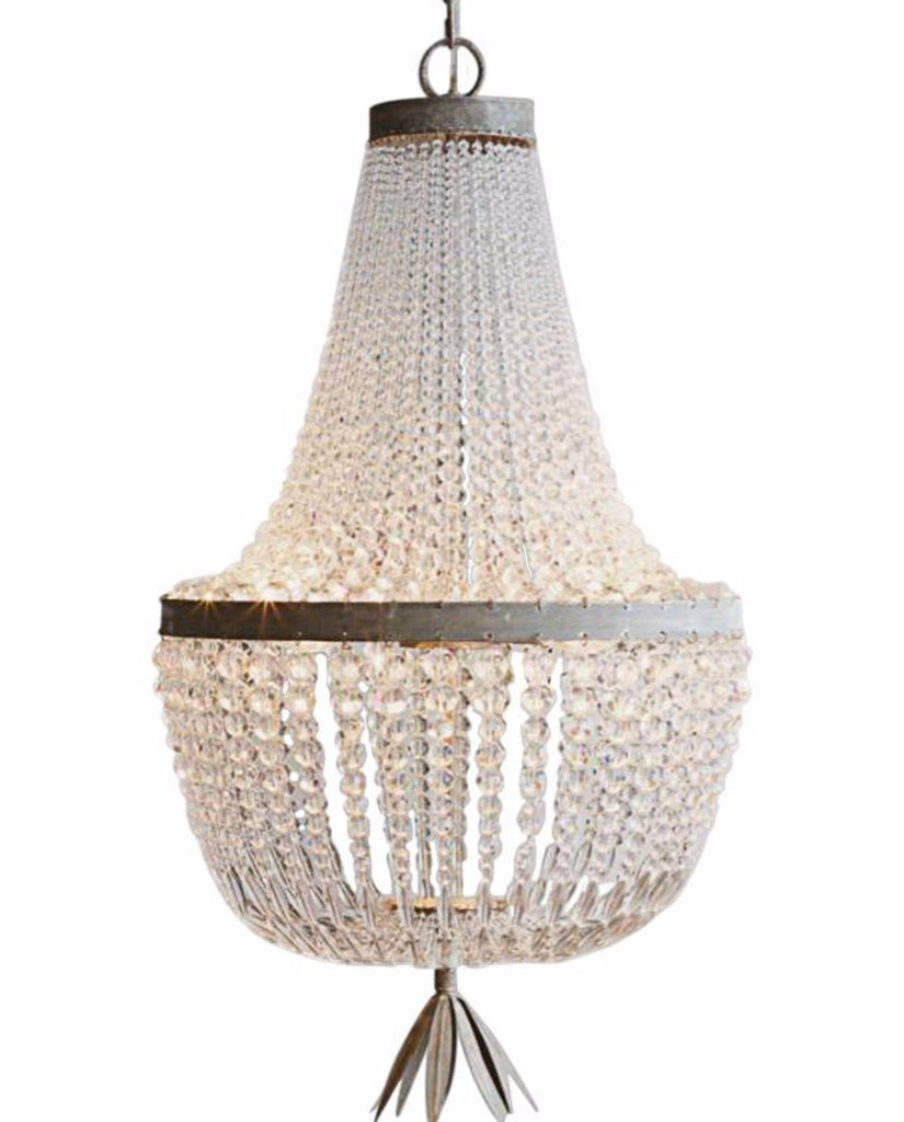 Beau- Smooth Glass Beaded  Empire Chandelier - Au Courant Interiors